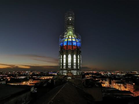 Iluminación de la Cúpula de la Basílica del Voto Nacional - FOTO: Consejería de Comunicaciones