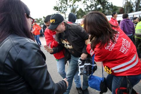 Gestores de Convivencia acompañan las movilizaciones sociales -FOTO: Prensa SecreSeguridad