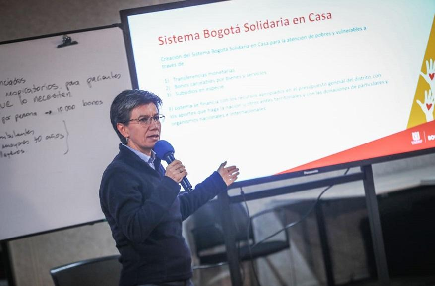 """""""Bogotá Solidaria en Casa"""", para ayudar a ciudadanos vulnerables - Foto: Comunicaciones Alcaldía Bogotá / Christian Martinez"""