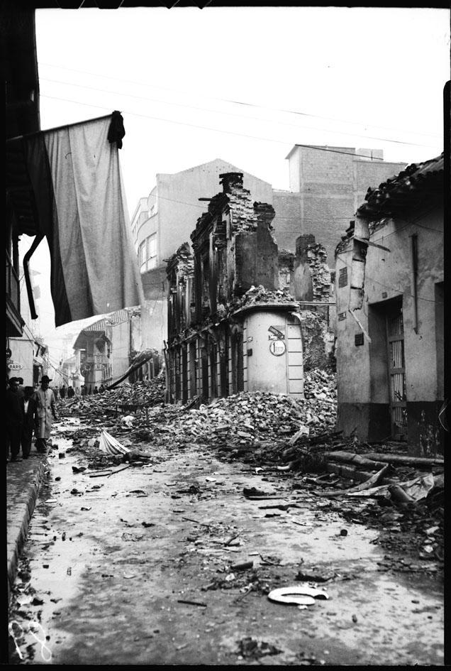 Casas y locales afectadas el 9 de abril/FOTO: Sady González-1948-Archivo Bogotá