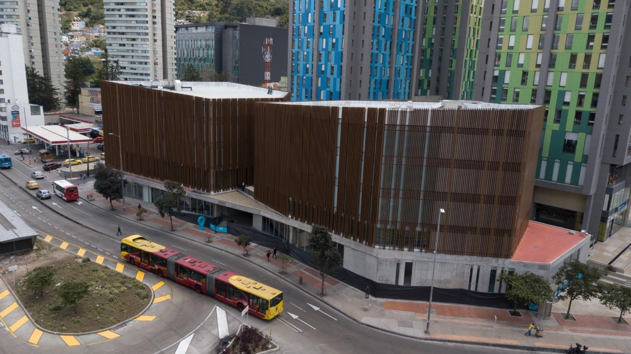 Imagen del edificio de la nueva Cinemateca de Bogotá