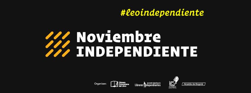 Afiche central del festival de libros independiente en Bogotá