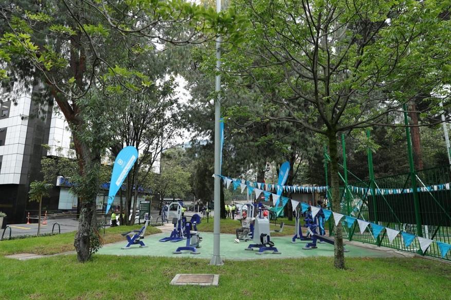 Foto: Diego BaumanAsí es el nuevo parque Japón en Chapinero - Foto: Comunicaciones Alcaldía / Diego Bauman