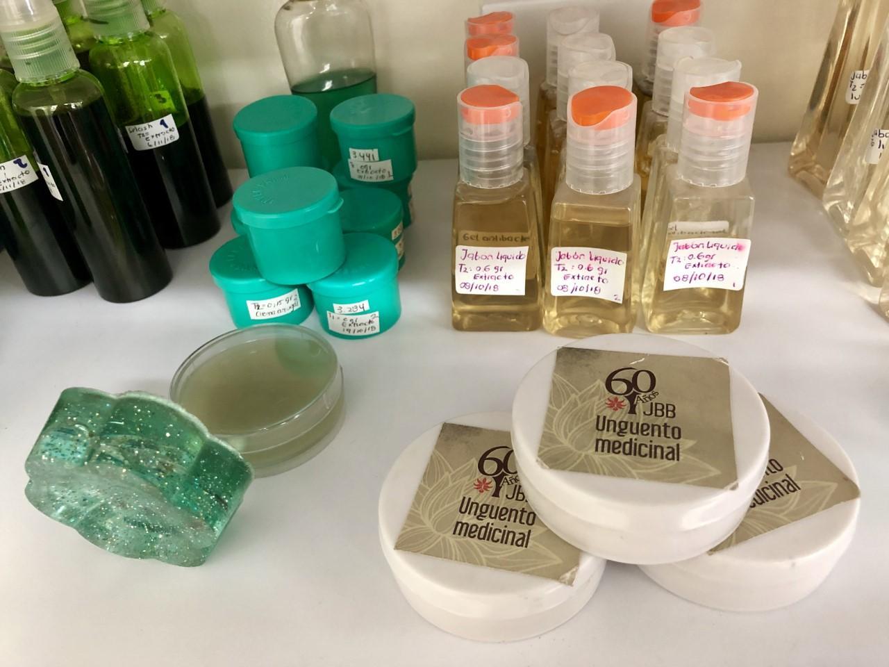 Imagen de productos medicinales. unguentos