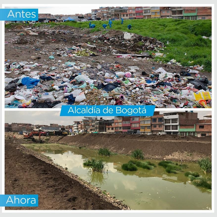 Así avanza la recuperación de humedales en Bogotá - Foto: Comunicaciones Alcaldía Bogotá / Andrés Sandoval