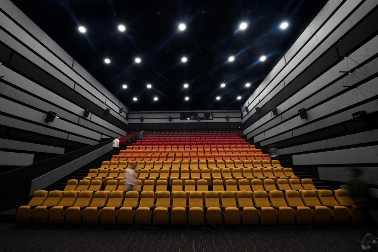 Imagen de una de las salas de la cinemateca de Bogotá