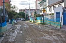 340 metros cuadrados de vía fueron recuperados en el barrio El Recuerdo de Teusaquillo