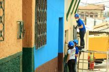 Embellecimiento de fachadas - Foto: Prensa Alcaldía Mayor de Bogotá, Diego Bauman