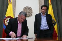 Oscar Sánchez alcalde (E) de Bogotá