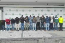 Capturas de la Policía - Foto: Oficina de prensa Policía metropolitana de Bogotá