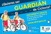 Guardianes de la Ciclovía - Foto: Prensa IDRD