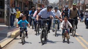 Alcalde recorrido bicicleta - Foto: Prensa Alcaldía Mayor / Camilo Monsalve