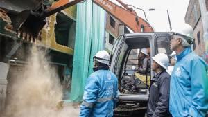 Demolición primero predios del Bronx - Foto: Prensa Alcaldía Mayor de Bogotá / Camilo Monsalve