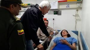 Alcalde visita a heridos en hospital - Foto: Comunicaciones Alcaldía Mayor