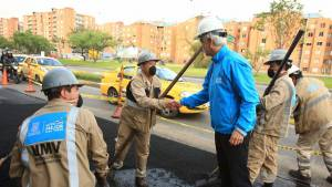 Intervención huecos Avenida Boyacá - Foto: Prensa Alcaldía Mayor / Diego Bauman