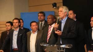 Declaraciones Alcalde sobretasa a la gasolina - Foto: Prensa Alcaldía Mayor / Diego Bauman