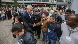 Presentación grupo élite de Policías en TransMilenio - Foto: Prensa Alcaldía/ Camilo Monsalve