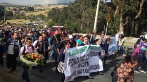 Manifestación de la comunidad - Foto: Héctor Edilmar González Rubiano