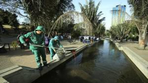 Limpieza eje ambiental - Foto: Oficina de Prensa Alcaldía Mayor de Bogotá
