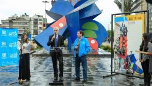 Alcalde Peñalosa desde La Gran Mariposa en San Victorino - Foto: Alcaldía Bogotá
