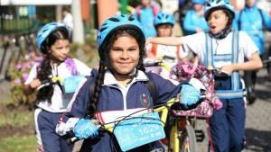 Estudiantes programa 'Al Colegio en Bici' - Foto: Comunicaciones Secretaría de Movilidad