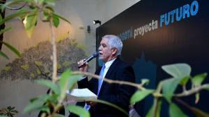 Alcalde Peñalosa inaugura la exposición Bogotá proyecta Futuro. Foto: Alcaldía Mayor