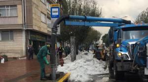 Limpieza de alcantarillado - FOTO: Prensa EAB