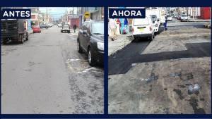 Barrio 12 de Octubre. Foto: Unidad de Mantenimiento Vial