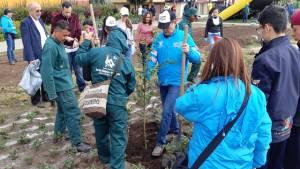 Jornada de plantación liderada por el Distrito - Foto: Jardín Botánico
