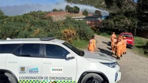 Atención de incendios forestales en Bogotá - Foto: Comunicaciones IDIGER
