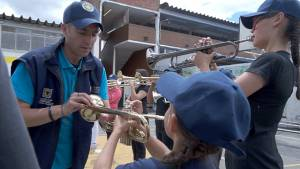 Banda colegio Clemencia Caycedo - Foto: Prensa Secretaría de Educación