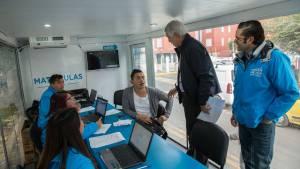 Unidades móviles de la Secretaría de Educación - Foto: Comunicaciones Alcaldía / Diego Bauman