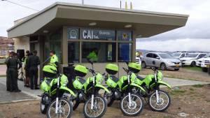 Este es el nuevo CAI del barrio el Guavio. Foto: Secretaría de Seguridad.