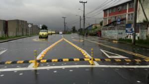 Canalización vial en San Cristóbal - Foto: Secretaría de Movilidad
