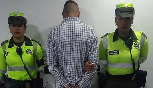 Captura delincuente de Suba - Foto: Prensa Mebog