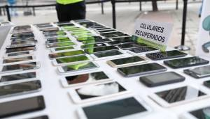 Celulares recuperados - FOTO: Prensa Mebog