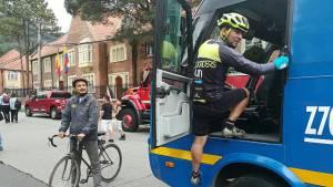 Con campaña para visibilizar ciclistas se busca reducir accidentalidad. Foto:TransMilenio