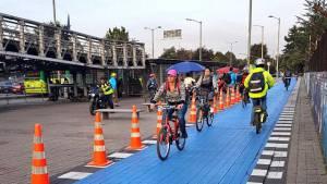 Mejoras en CicloRuta de la calle 80 para proteger peatones y ciclistas - Foto: Alcaldía Mayor de Bogotá