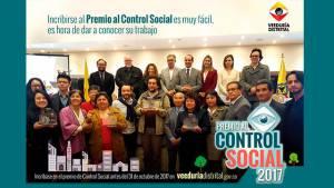 ¿Contribuye con el control social en Bogotá? Postúlese a este premio. Foto: Veeduría Distrital