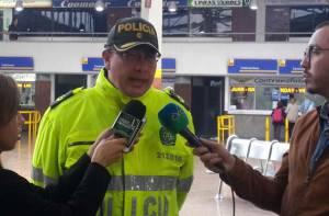 Coronel Alexander Aguilar Incautación  de Cangrejos Azulez- FOTO: Of. Prensa MEBOG