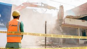 Demolición de predios. Foto: Alcaldía Mayor
