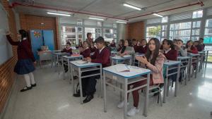 Estudiantes colegios de Bogotá - Foto: Comunicaciones Alcaldía Bogotá