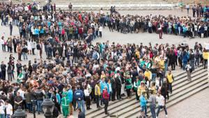 En el simulacro de evacuación participaron más de 1.400.000 personas. Foto: Alcaldia Mayor
