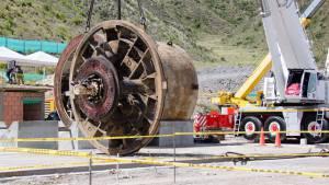 Verificación obras extracción tuneladoras en Canoas - Foto: Comuniacciones Acueducto Bogotá