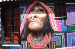 Pintura rostro de mujer ancestral - Foto: Galería Flickr Portal Bogotá