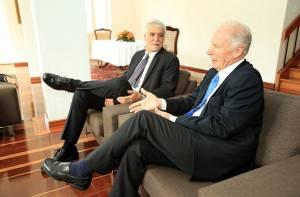Encuentro con alcalde de Ciudad de Guatemala - Foto: Prensa Alcaldía Mayor/ Diego Bauman