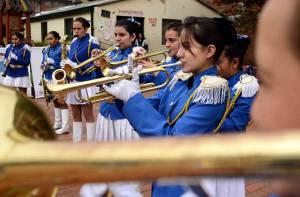 Banda de Guerra La Merced - Foto: Prensa Secretaría de Educación