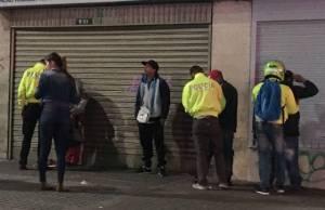 Captura de delincuentes - FOTO: Prensa Policía Metropolitana de Bogotá
