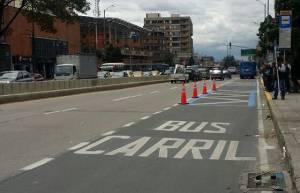 Carril preferencial Calle 19 - Foto: Prensa Secretaría de Movilidad