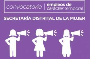 Afiche convocatoria de empleo Secretaría de la Mujer